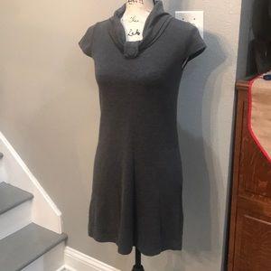 Alyn Paige grey dress